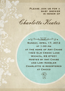 Baby Shower Invites - Blue Embroidery