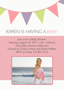 Flag Days Pink -  Baby Shower Invites