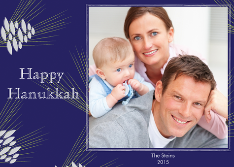 Personalized Holiday Cards, Naturally Hanukkah Design