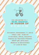 Blue Buggy -  Baby Shower Invites