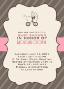 Blush Buggy -  Baby Shower Invites
