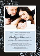 Baby Shower Invitations - Blue Baby Bower