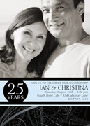 Wedding Anniversary Invitations - Onyx Swirl