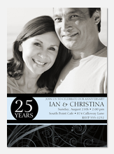 50th Wedding Anniversary Invitations - Onyx Swirl