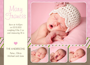 Love Frame Pink -  Birth Announcements for Girls