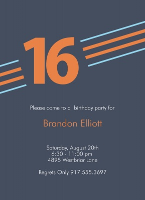 Teen Birthday Invitations, Graphic Birthday Design