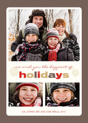 all holiday cards - Chocolate Check