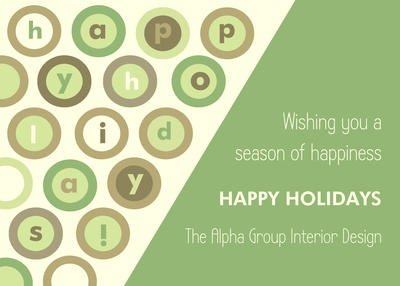 Business Holiday Cards, Season's Circles Design