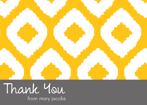 Thank You Cards for Women, Native Gold Design