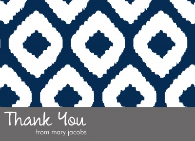 Thank You Cards For Men, Native Navy Design