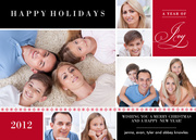 Crimson Holidays - holiday photo cards