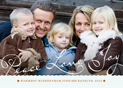 photo Christmas cards - Perfect Script