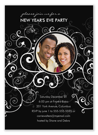 Party Swirl - Holiday Party Invitations