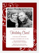 Christmas Party Invitations - Cheery Cherry