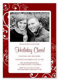 Christmas Party Invitations - Cheery Cherry