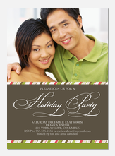 Holiday Party Invitations - Holiday Calligraphy