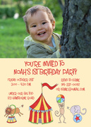 Boy Birthday Invitations - First Circus