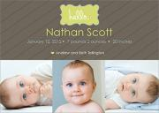 Birth Announcements for Boys - KeyLime Love