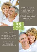 Quarter Century -  Photo Anniversary Invitations