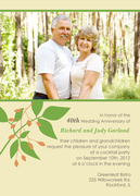 Harvest Branch -  Photo Anniversary Invitations