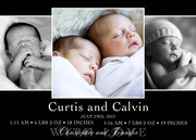 Twin Baby Announcements - Duo Delight