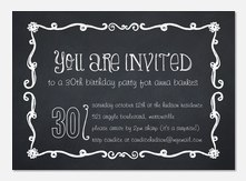 Birthday Chalk -  Adult Birthday Party Invitations