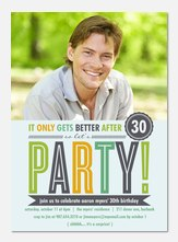 Adult Birthday Invitations - Mint B-Day