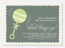Baby Shower Invites - Shake It Baby Green