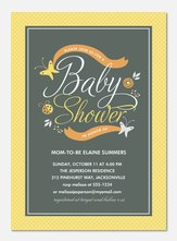 Baby Shower Invitations - Baby Glee Orange