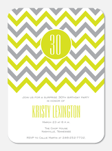 Citrus Zag - Adult Birthday Invitations