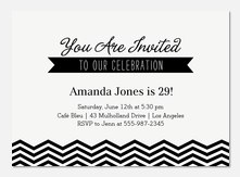 Adult Birthday Party Invitations - Chic Sweet