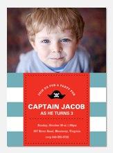 Captain's Call -  Birthday Invitations for Boys