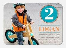 Bike Badge - Boy Birthday Invitations