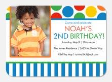 Stripes & Dots - Boy Birthday Invitations