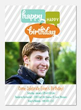 Birthday Bubbles - Adult Birthday Invitations