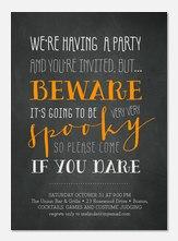 Halloween Dare - Halloween Party Invitations