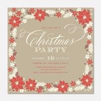 Poinsettia Pretty - Holiday Party Invitations