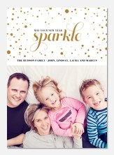 new years photo cards - Confetti Sparkle