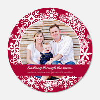 Festive Snow -  Christmas Birth Announcements