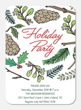 Woodland Cheer -  Christmas Party Invitations