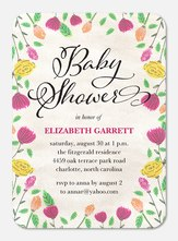 Baby Shower Invitations - Bright Floral
