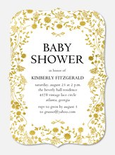 Baby Shower Invites - Delicate Gold