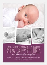 Baby Girl Birth Announcements - Welcome Whimsy