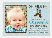 Boy Birthday Invitations - Giddy-Up!