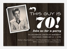 Adult Birthday Invitations - Retro Panelling