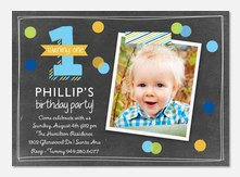 One to Remember  - Boy Birthday Invitations