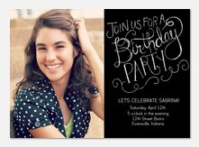 Adult Birthday Invitations - Drawn to Party