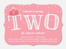 Girl Birthday Invitations - Royal Beauty