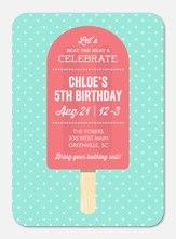 Girl Birthday Invitations - Sweet Popsicle
