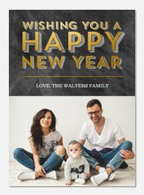Glowing & Bright - new years photo cards
